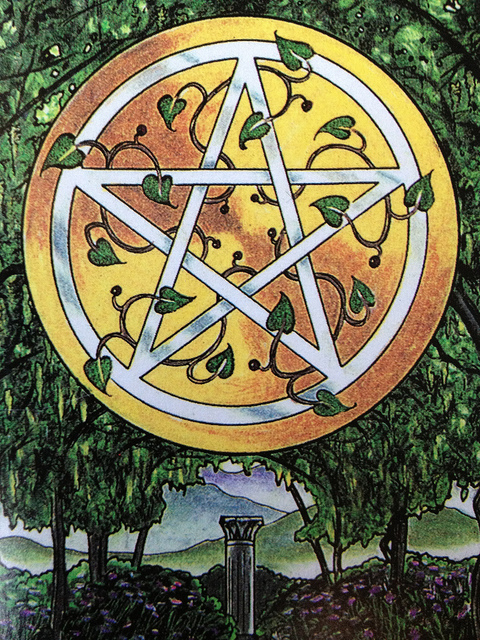 The Pentacles Suit Tarot Cards Meanings In Readings: Ace Of Pentacles